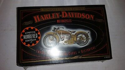 Harley Davidson Playing Cards Limited Edition Numbered #073380 2 Decks 1997