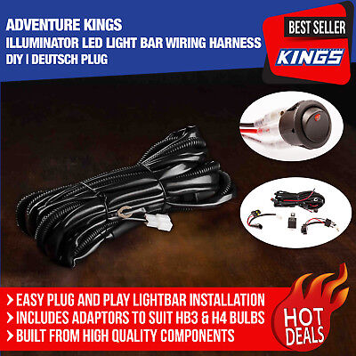 Adventure Kings Illuminator LED Light Bar Wiring Harness   DIY   Deutsch Plug