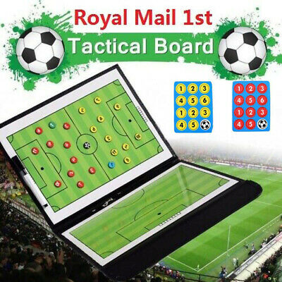 Foldable Football Tactic Coaches Coaching Magnetic Board Game Match Training UK