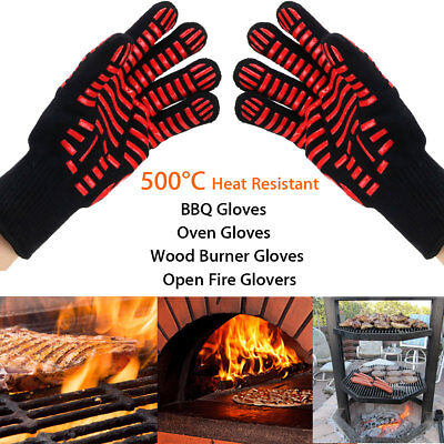 1Pcs 932°F Heat Proof Resistant Oven BBQ Gloves Kitchen Cooking Silicone Mitt