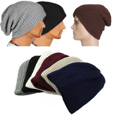Women Men Warm Oversize Beanie Skull Baggy Cap Winter Slouchy Knit Beanie Hat