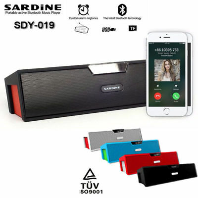 Sardine SDY-019 Wireless Bluetooth Stereo Speaker HIFI FM Radio USB TF Amplifier