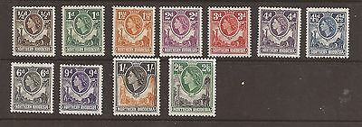 Northern Rhodesia 1953 Queen Elizabeth short set. sg 61-71. lightly mounted mint