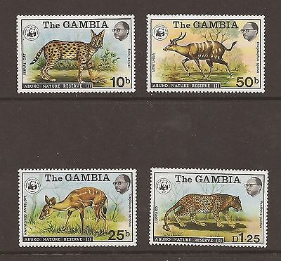 The Gambia 1976 Abuko Nature Reserve 1st Series sg 356-59 mounted mint