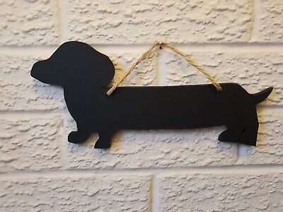 Wooden Dachshund Sausage Dog Ornament 10 Hand Carved Acacia Wood