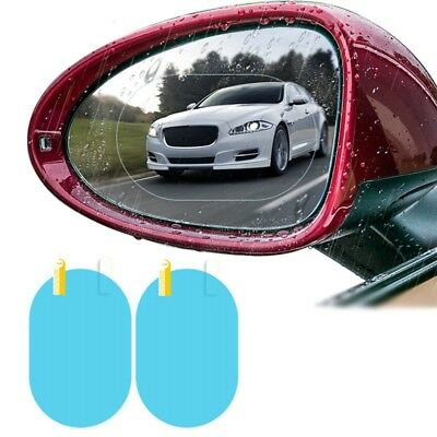 2 Pcs Oval Car Auto Anti-Fog Rainproof Rearview Mirror Protective Film Accessory