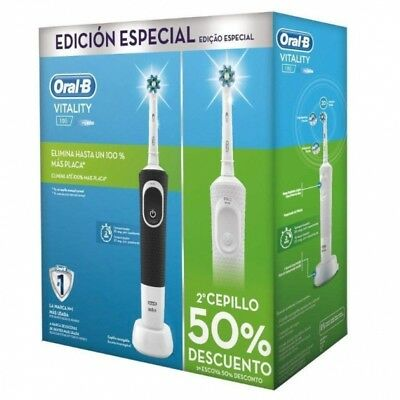 Pack 2 Cepillos Dentales Braun Vitality Crossaction Blanco Y Negro