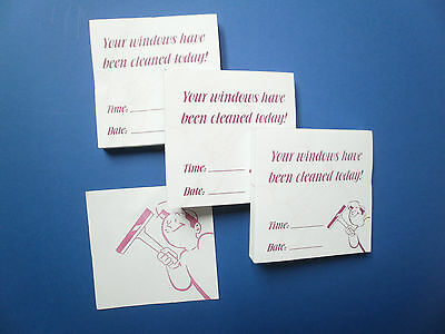 Window Cleaner PADS (x100) FLYER PADS, RECEIPTS - 3 / 5 / 9 pads x 100s