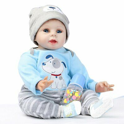 "22"" Full Body Silicone Reborn Dolls Lifelike Baby Girl Newborn Doll Gifts"