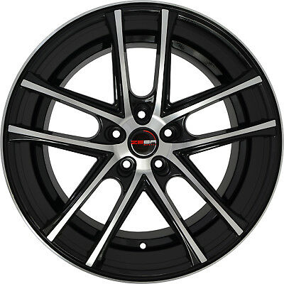 4 Gwg Wheels 22 Inch Black Machined Flow Rims Fits Lincoln Mkz 2013