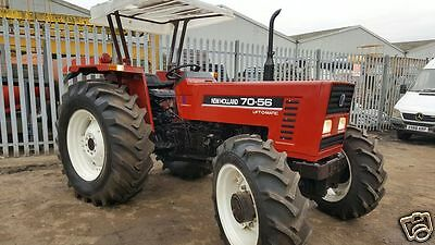 New Holland 70-56  4x4 tractor 85 HP  2 hrs only power steering PTO fiat engine