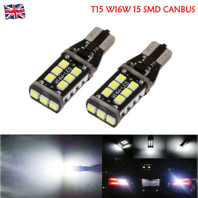 2X T15 W16W 15 SMD 921 LED Car Reverse Light Parking Bulbs CANBUS Error Free 12V