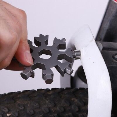 18-in-1 Multi-tool Combination Compact Portable Outdoor Snowflake Tool Card Tool