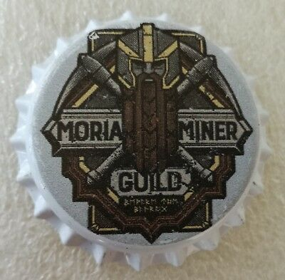 Fantasy Novelty Uncrimped Beer Bottle Cap Moria Miner The Lord of the Rings