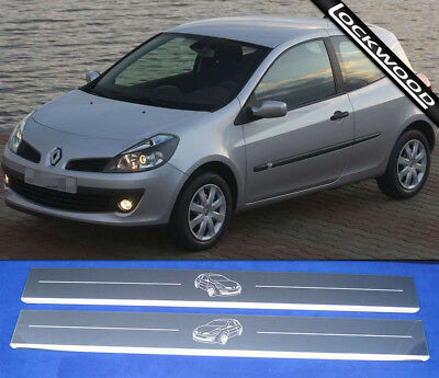 Renault Clio Mk3 Stainless Steel Sill Protectors / Kick Plates