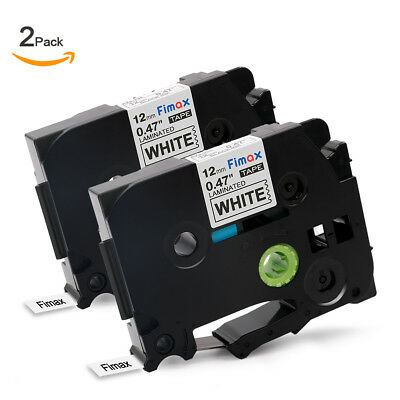 2PK TZe231 P-Touch Maker Tape Compatible for Brother P-Touch TZ Tape 12mm White