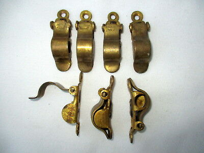 A Pair of Antique EVERED'S PATENT Brass Sprung Stair Rod Brackets