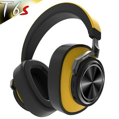 Bluedio T6s Bluetooth 5.0 Cordless ANC Headphones HiFi Sound Wireless Headset