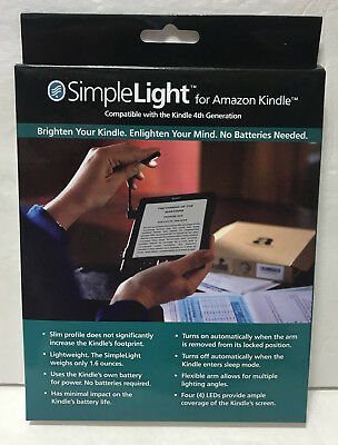 NEW SimpleLight Amazon Kindle 4th Generation Only LED Reading Light