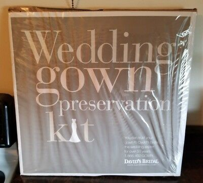 David's Bridal Wedding Gown Preservation Kit- New in Package!