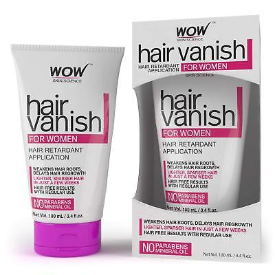 WOW Women's Hair Vanish, No Parabens and Mineral Oil 100ml, no parabens or miner