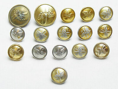 Vintage 16 Assorted Military Pilot Uniform Buttons Soviet Russian Army USSR