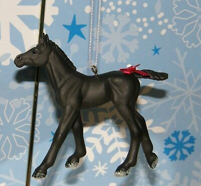 """3.5"""" Black Colt Or Filly Horse Holiday Gift Bag Decor Christmas Ornament"""