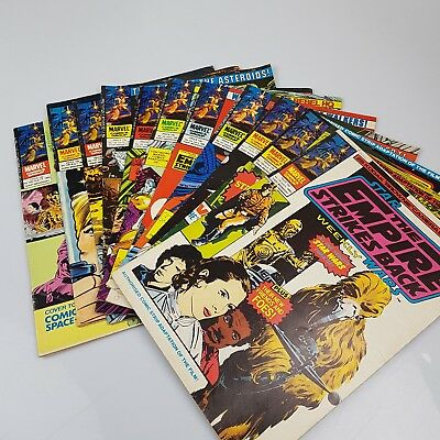 11x STAR WARS The Empire Strikes Back Weekly Comics Issues #119-129 Vintage 1980