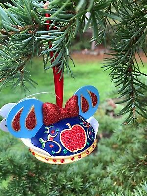 Disney Snow White Mouse Ears Hat Ornament - NEW