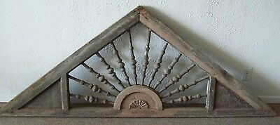 GREAT 1885 Victorian gingerbread house gable pediment Sunburst Spindles