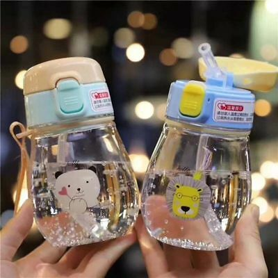 Baby Water Drinking Bottle Straw Feeding Sippy Cup Kid Milk Suction Infant Pura