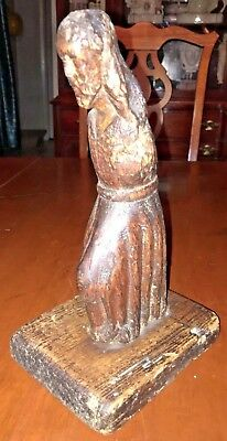 Antique Mid 19th Century Carving Of Christ, Very Old and From a Cal. Mission