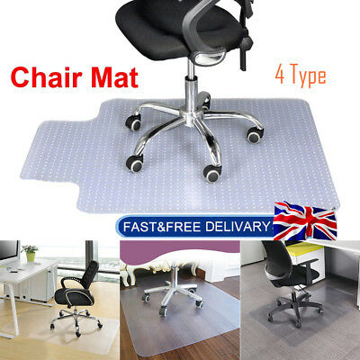 Home Office Carpet Protector Chair Mat Chairmat Frosted PVC None Slip 4 Types