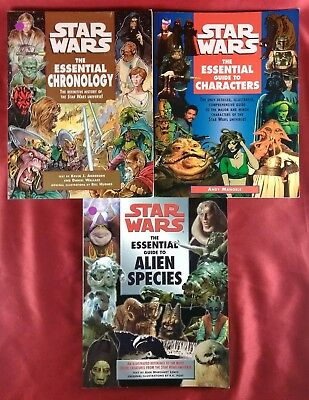 3 Starwars The Essential Guides | Characters, Alien Species, & Chronology