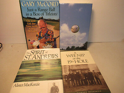 Golf Book Lot Of 4 Books Hardcover Mackenzie McCord Cullen Outdoor Sports