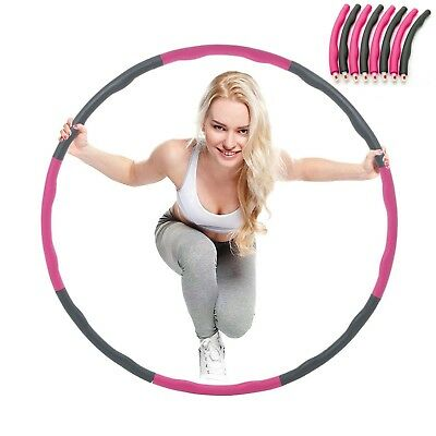 Collapsible 1KG Weighted Padded Hula Hoop Fitness Exercise Gym Workout Hoola