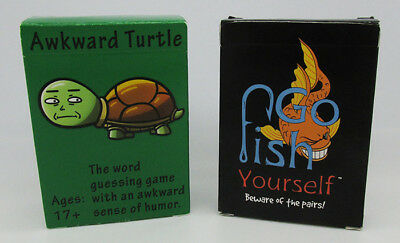 Awkward Turtle & Fish Yourself Adult Party Card Games for Ages 17+ word guessing