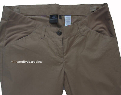 New Womens Brown NEXT Maternity Trousers Size 12 Long RRP £25