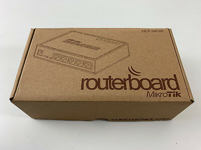 New Mikrotik RB750UPr2 RouterBOARD hEX PoE lite 650MHz 64MB 5xLAN 4-PoE OSL4 #ab