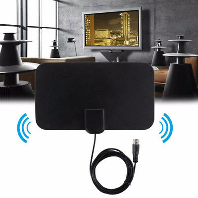 Thin Flat Antenna HD High Def TV Fix Scout HDTV DTV TVfix Skylink Cable Style