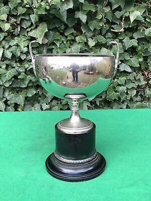 Superb Large Silver Plated Trophy Cup With Base - Ex Display - Good Condition