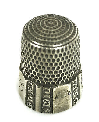 Vintage Early Antique Sterling Silver Thimble