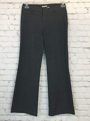 Womens Old Navy Size 4 Gray Dress Pants Stretch Career Boot Cut