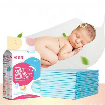 Baby Disposable Changing Pad,20Pieces Soft Waterproof Mat Portable Diaper Table