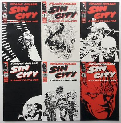 Sin City Dame to Kill for #1 to #6 complete series (1993 Dark Horse) High grade