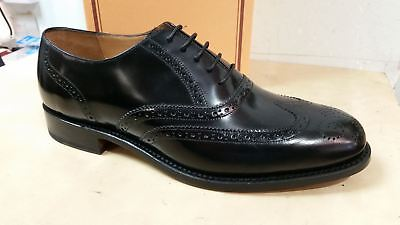 Barker Glasgow Goodyear Welted Leather Brogue Shoes In Black Hi Shine 202B G Fit