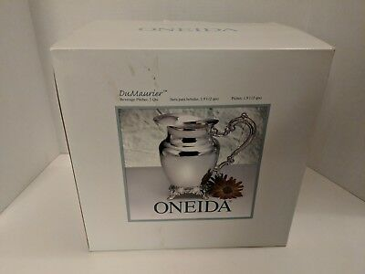 ONEIDA  DU MAURIER Silver Plated Beverage Pitcher New in Box LOT I