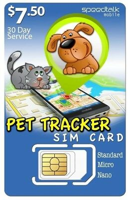 $7 50 SIM CARD for Pet Tracker and Tracking Devices  3-in-1  GSM 2G 3G 4G  LTE