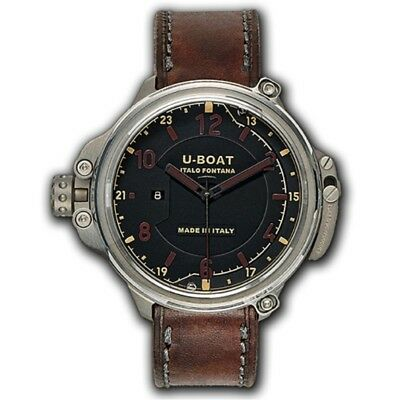 U-Boat Capsule Titanium 50mm Brown & Black Dial Automatic Watch 7469