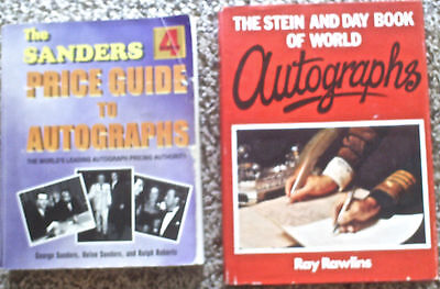 2 Books- Sanders Price Guide to Autographs; Stein & Day Book of World Autographs